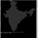 C Program to Print India Map