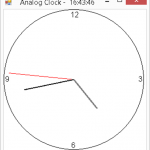 C# Analog Clock Program