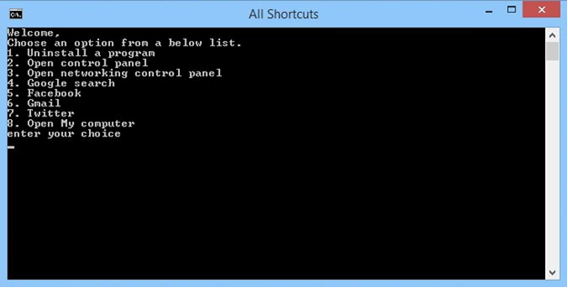 Create-Your-Own-Shortcuts-Using-Batch-File