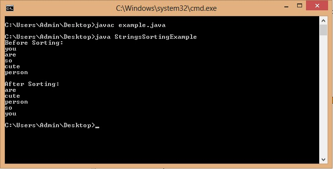 Java Program to Sort List of Strings