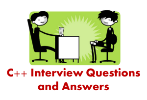 C++ Interview Questions and Answers