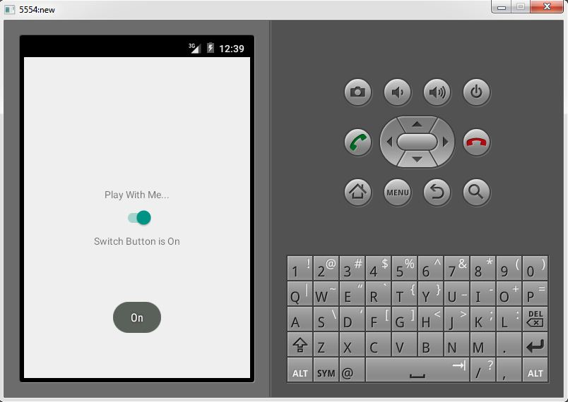 Android Switch Button Example