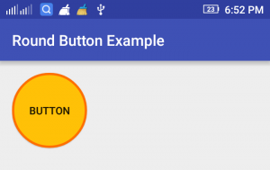 Android Round Button Example
