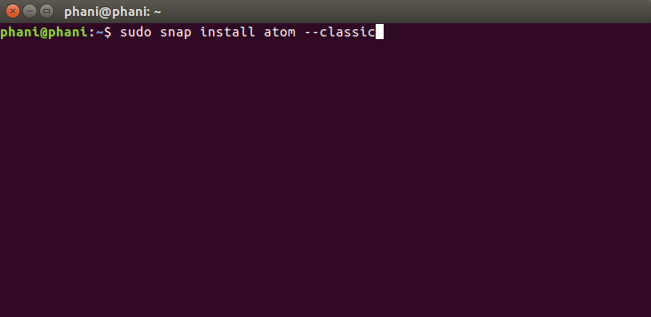 how to download install atom on ubuntu