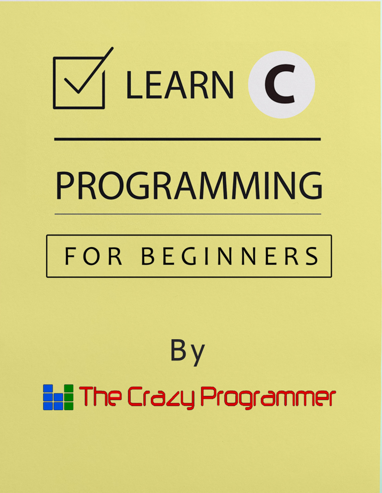 Learn C Programming PDF | Free eBook For Beginners