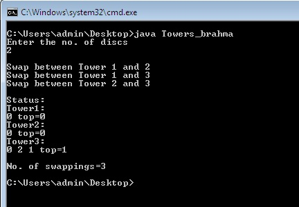 Java Program for Tower of Hanoi Problem