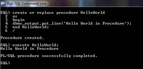 PLSQL Procedure