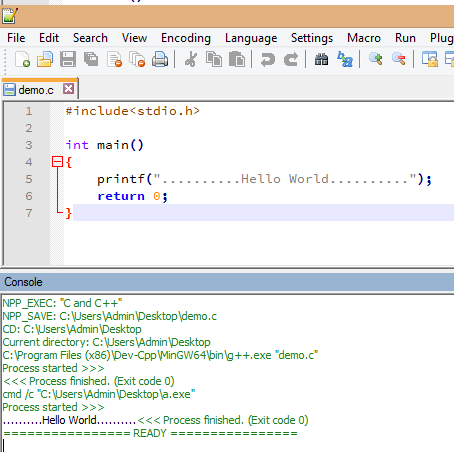 Configure Notepad++ to Run C, C++ and Java Programs - The Crazy