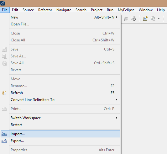 How to Import Existing Project in Eclipse or MyEclipse