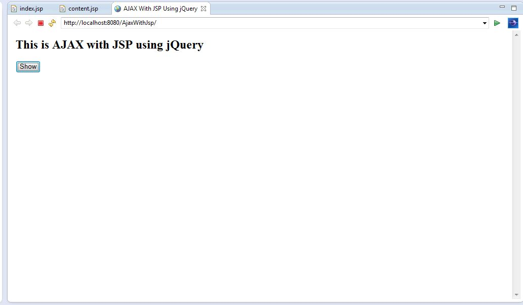AJAX with JSP Using jQuery Example