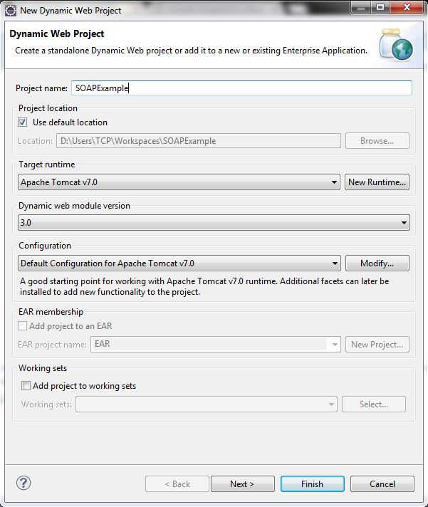 Create Java SOAP Web Service Using Eclipse 1