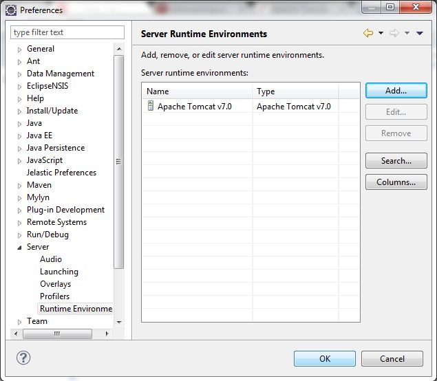 Configure Apache Tomcat Server in Eclipse IDE 7