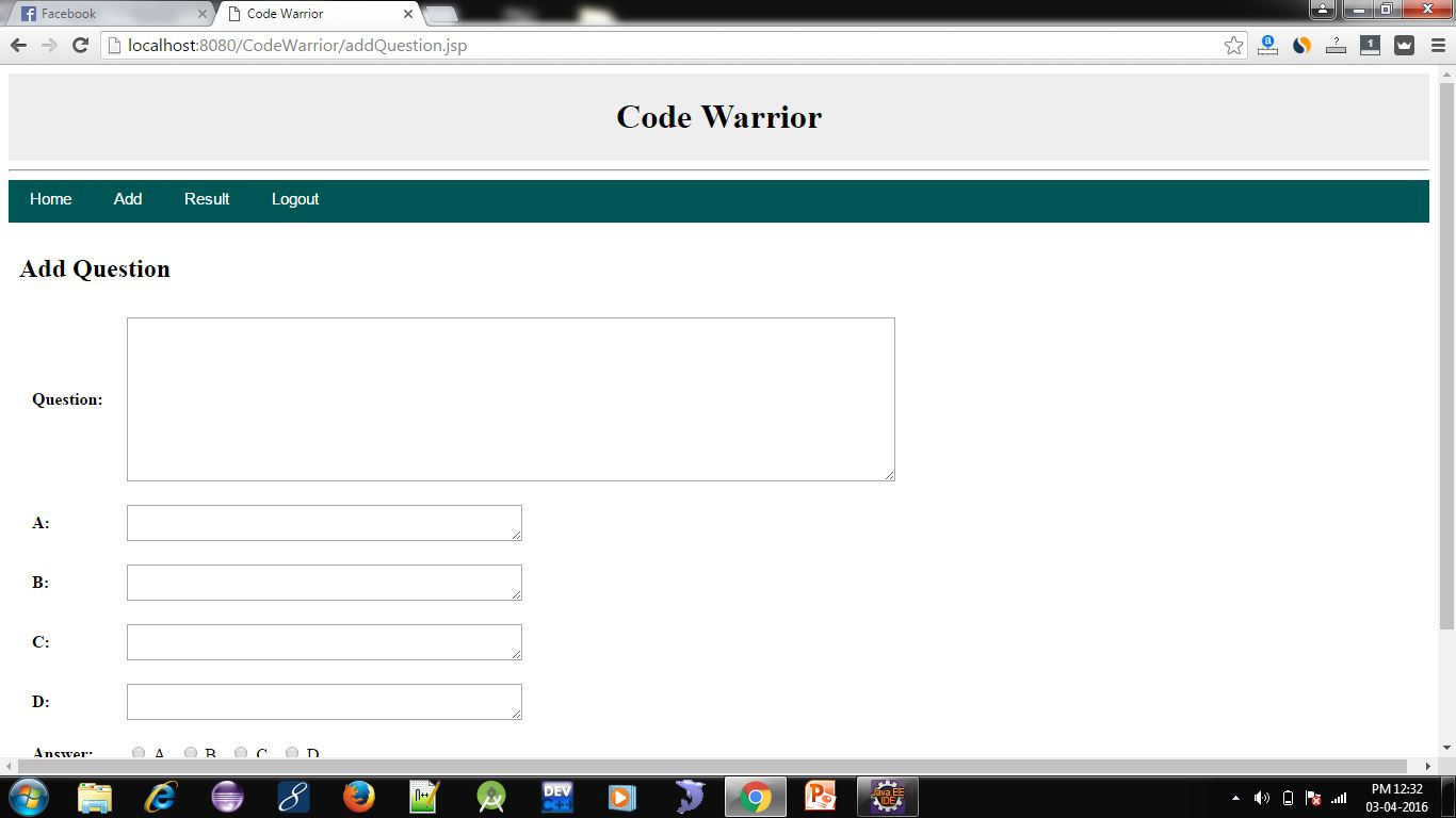 Online Quiz System Project in JSP 6