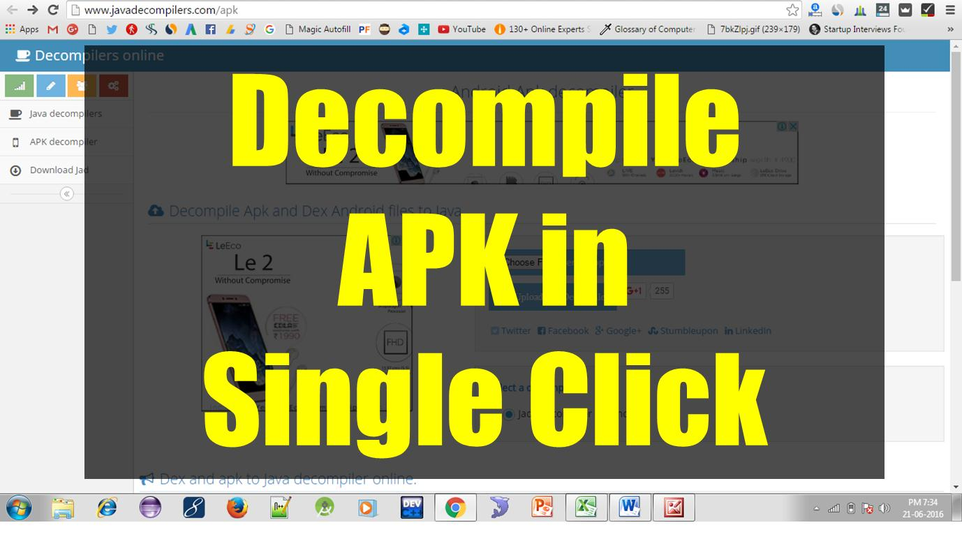Decompile APK to Source Code in Single Click - The Crazy Programmer