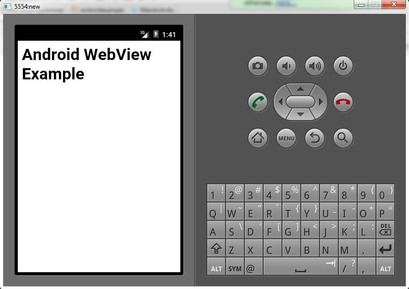 Android WebView Example 2