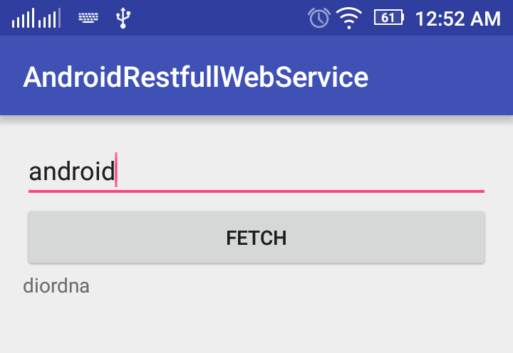 Android Restful Web Service Client Example - The Crazy