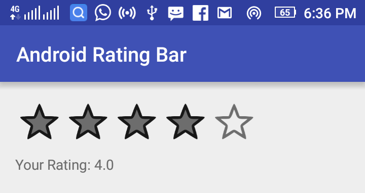 Android RatingBar Example