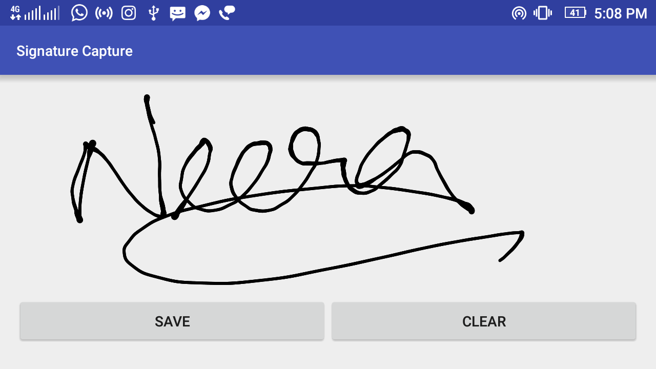 Android Signature Capture Example Using Signature Pad Library