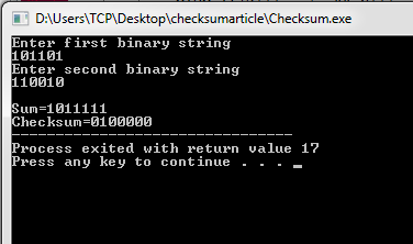 Checksum Program in C and C++