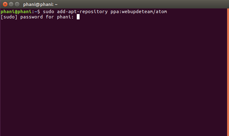Install Atom Text Editor in Ubuntu Using PPA 1