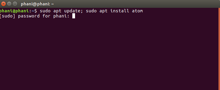 Install Atom Text Editor in Ubuntu Using PPA 2