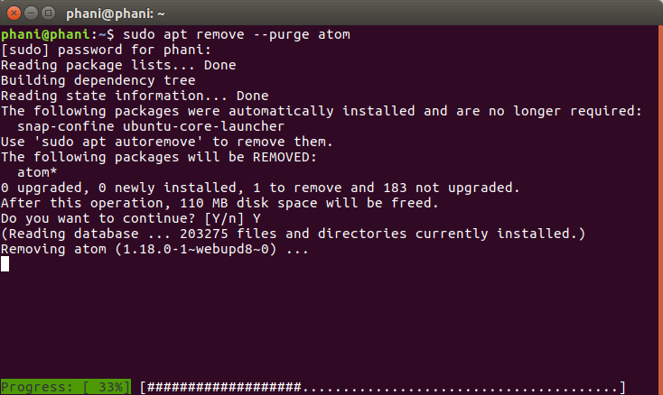 Install Atom Text Editor in Ubuntu Using PPA 7