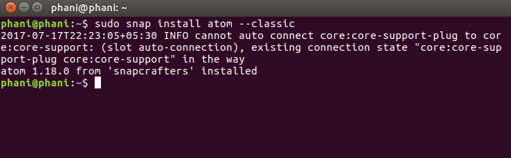 Install Atom Text Editor in Ubuntu Using SNAP 5