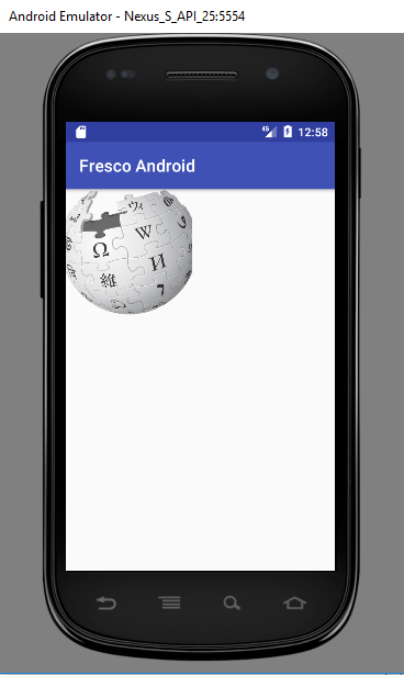 Fresco Android Tutorial Screenshot