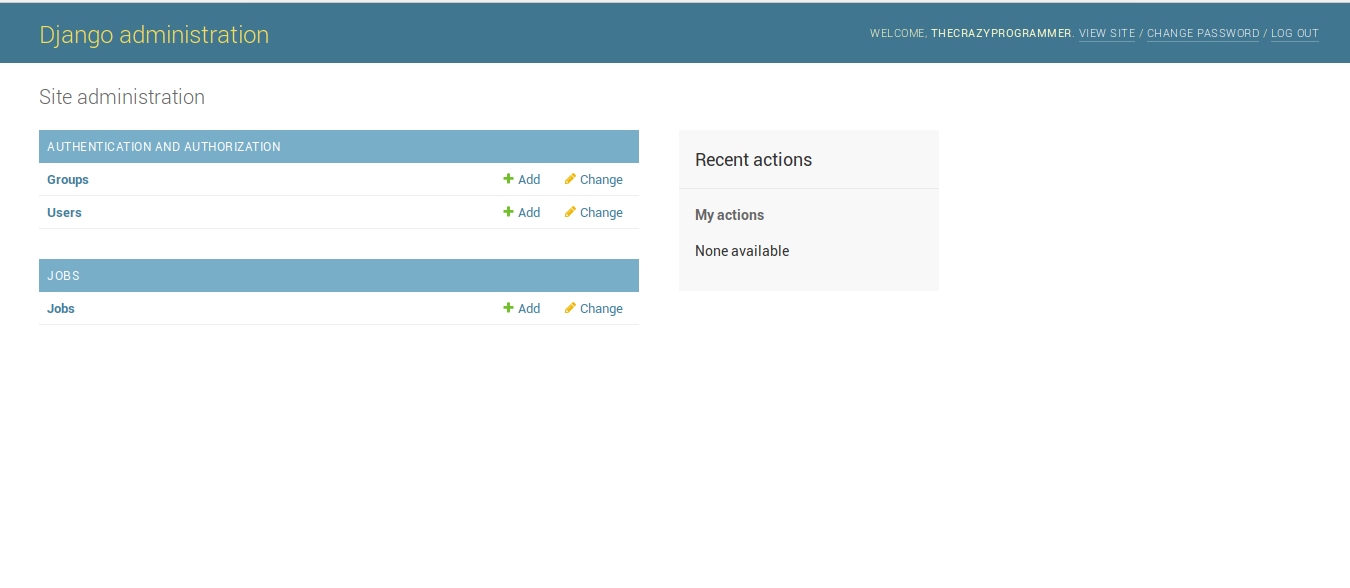 Django Admin Interface 11