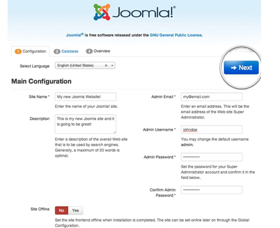 How to Install Joomla 3 on Web Hosting 3