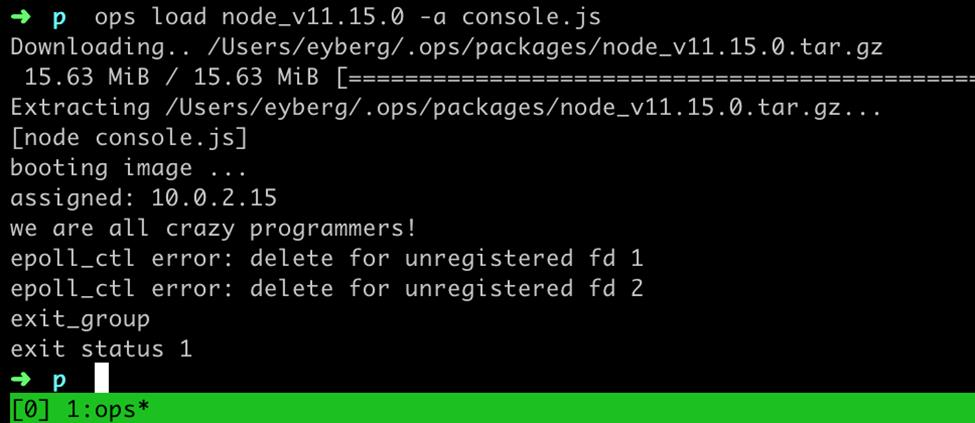 Running Unikernels from Existing Linux Applications with OPS 3