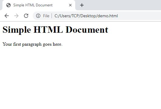 Simple HTML Document
