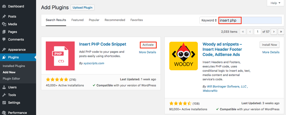 How to Add PHP to WordPress 2