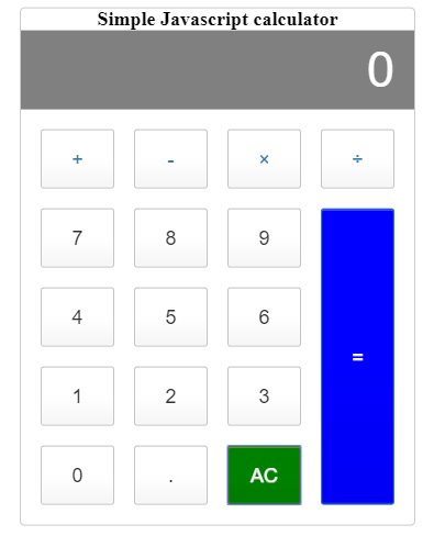 Simple JavaScript Calculator