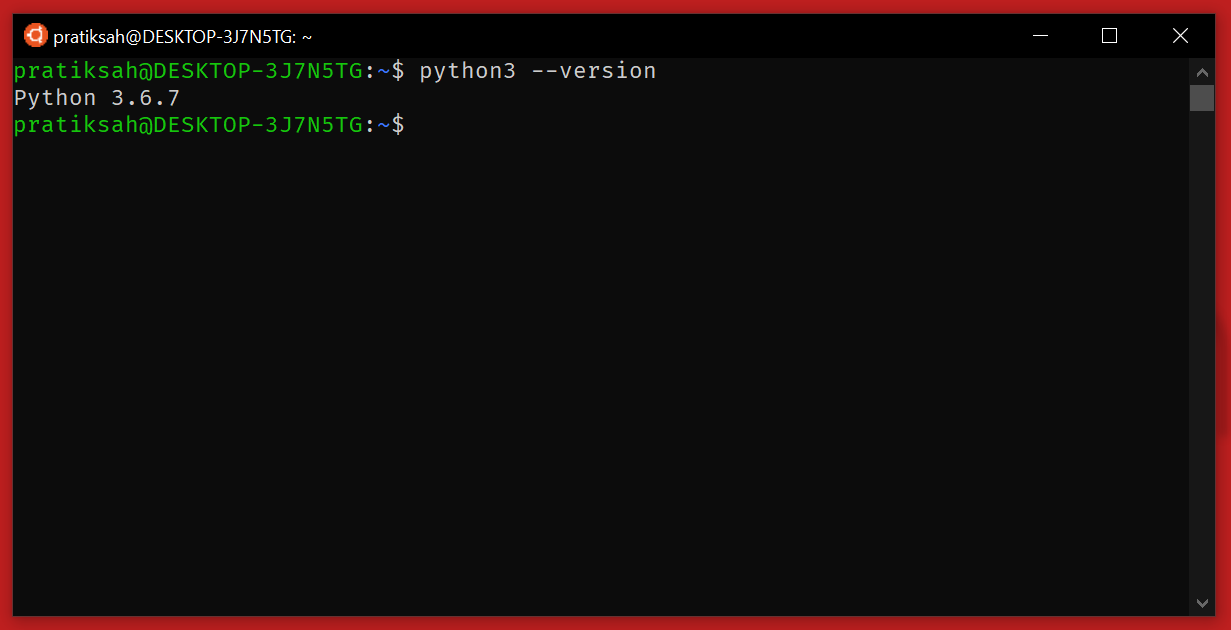 checking python version on linux